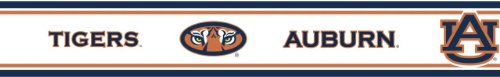 "Auburn Tigers Five (5) Pack Peel & Stick Wall Borders (5.7""X12'; TOTAL FOR 5 PACK = 60 FEET LENGTH)- Plus TWO BONUS 6 Inch Decals! at Amazon.com"