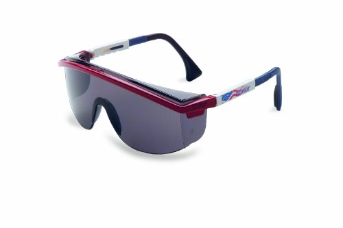 Uvex S1179 Astrospec 3000 Safety Eyewear, Red/White/Blue Frame, Gray Ultra-Dura Hardcoat Lens (Fisher 3000 compare prices)