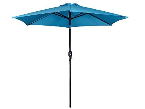 TMS® 9Ft Aluminum Outdoor Beach Patio Umbrella Crank Tilt Sunshade Cover Yard Blue