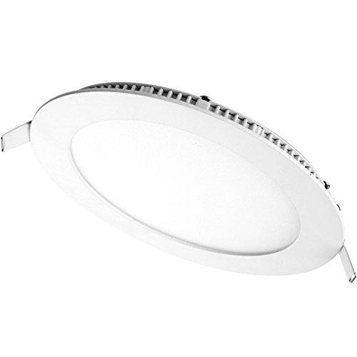 "Generic 18W 90 Smd2853 Led Panel Light Round Ultra Slim Warm White Ac110-265V 8"" Color White"