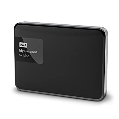 WD 3TBMy Passport for Mac PortableExternal Hard Drive- USB 3.0- WDBCGL0030BSL-NESN