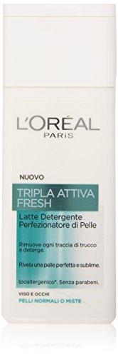 L'Oréal Paris Tripla Attiva Fresh Latte Detergente per Pelli Normali o Miste, 200 ml