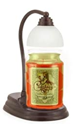 Aurora Bronze Candle Warmer Gift Set - Warmer and Courtneys 26 oz Jar Candle - AFTER MINDNIGHT