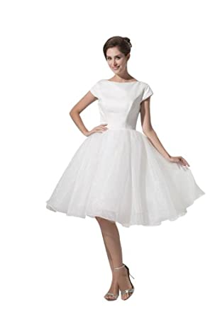 Elegant princess cheap prom dresses short sleeve ball gown for Amazon cheap wedding dresses