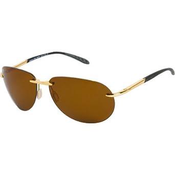 Costa Del Mar Leatherback Sunglasses with Polycarbonate Lens - Palladium Frame / Blue Mirror Lens