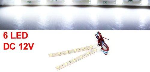 2 Pcs 13cm Ruban adhésif 6 blanc 5050 SMD LED voiture décoratifs Lampe Strap