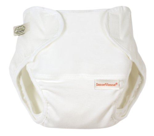 Imse Vimse Organic Cotton Diaper Cover - Preemie WHITE