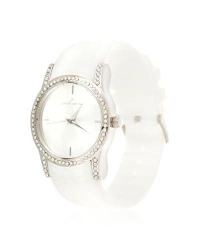 VIANOVA Women's NWX174445WT-Z White/Silver-Tone Rubber Watch