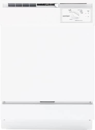 "Hotpoint Hotpoint Dishwasher Built-In 24"" Hda2100Vww front-530196"