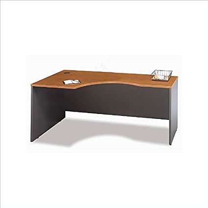 Bush Furniture Corsa Series Bow Front Wood Computer Desk in Natural Cherry