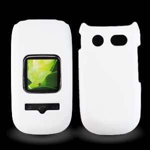 For ATT Pantech Breeze III P2030 Accessory - Rubber White Hard Case Cover + Lf Stylus Pen (Breeze Phone compare prices)