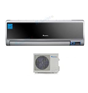 18,000 Btu Klimaire 17 SEER DC Inverter Ductless Mini Split Heat Pump Air Conditioner - 220 Volt - 16 Ft Installation Kit