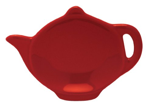 Discover Bargain HIC Brands that Cook Transitionals Ceramic Teapot Shape Tea Bag Caddy, Rose