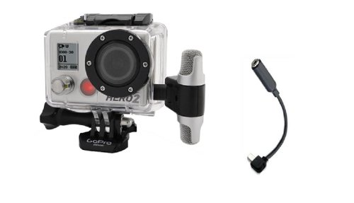 Professional Microphone With Adapter Compatible For Gopro Go Pro Hero 3