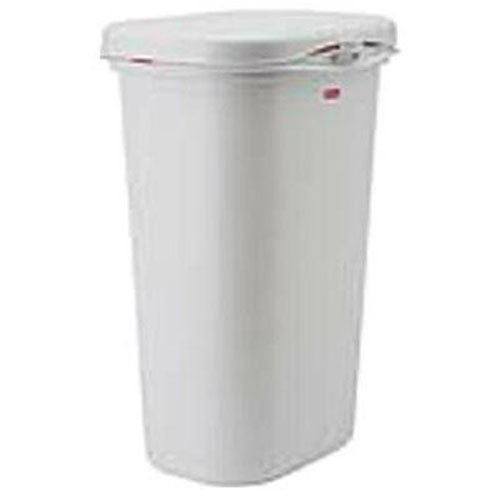 Rubbermaid Spring-Top Wastebasket, White, 52-quart (FG5L5806WHT) (Tall Kitchen Trash Can With Lid compare prices)