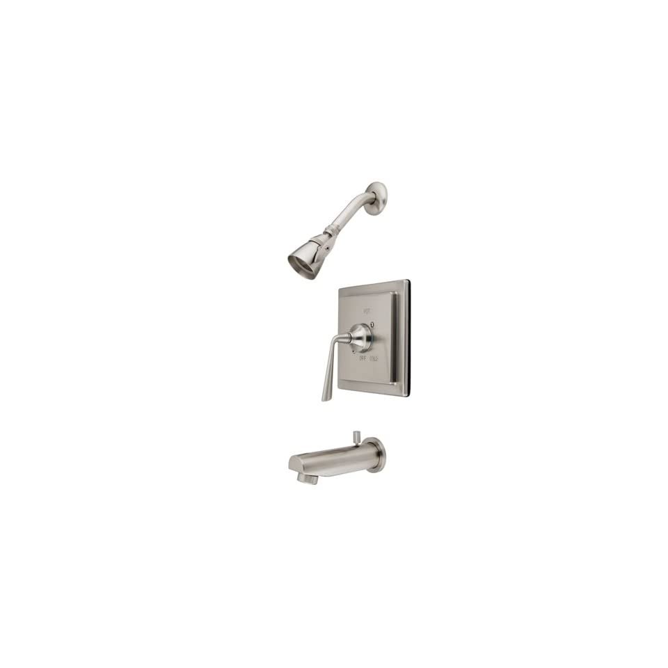 Nickel Single Handle Tub and Shower Trim with Rough In, Single Functi