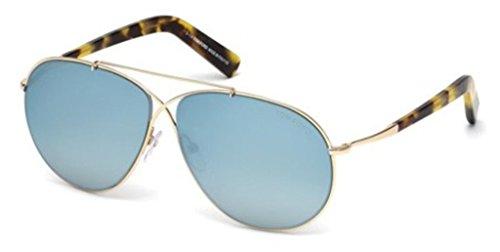 Tom Ford 0374S 28X Gold Eva Aviator Sunglasses Lens Category 3 Lens Mirrored