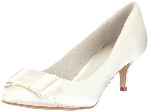 Menbur Wedding Galatea 04759, Scarpe con tacco da sposa, Avorio (Elfenbein/Ivory), 39