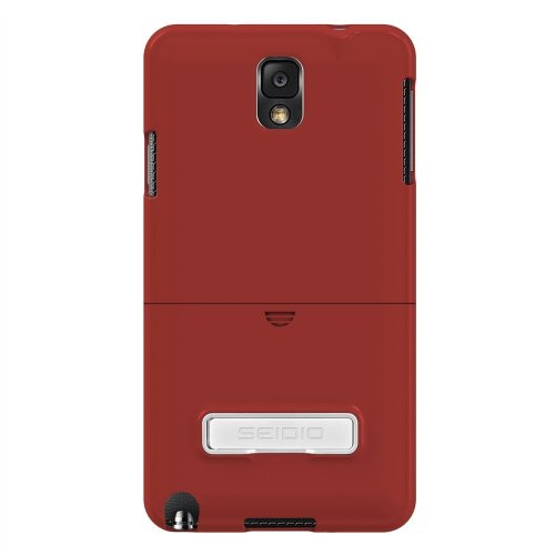 Seidio SURFACE Case with Metal Kickstand for  Samsung Galaxy Note 3 - Retail Packaging - Garnet Red (Samsung Note 3 Platinum Case compare prices)