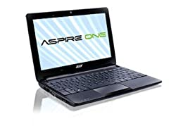Acer Aspire One - Ordenador portátil 10.1 pulgadas (Intel Mobile CPU, 1 GB de RAM, 1.6 GHz, Win 7 Starter) - Teclado QWERTY español