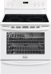 """Frigidaire Gallery Series Fgef3055Mw 30"""" Freestanding Electric Range With 5 Radiant Elements, 5.8 Cu. Ft. True Convection Oven, Self-Clean, Storage Drawer, Temperature Probe, And Auto Keep Warm In White"""
