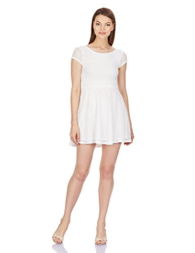 Aéropostale Women's Skater Dress (Floral White_AE8160047_Large)
