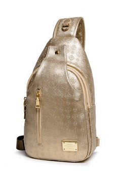 Donne Casual in pelle PU borsa a tracolla multiuso diagonale, Outdoor Chest - Zaino - Golden