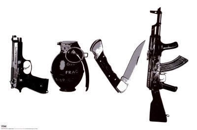 Steez (Love, Weapons) Art Poster Print - 24x36