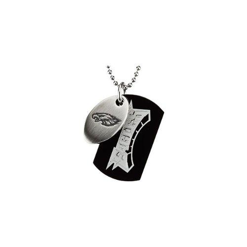 69 St Steel 45mm Philadelphia Eagles NFL Football Team Jewelry Men 2 Dog Tag W/Chain