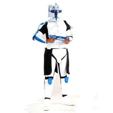 Star Wars Animated Deluxe Clone Trooper Leader Rex Adult Costume - X-Large