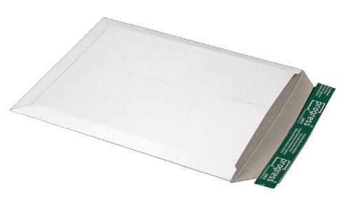 progressPACK PP V02.06 - Busta per spedizioni postali, in cartoncino, formato DIN B4, 285 x 365 x max. 30 mm, confezione da 25 pezzi, colore: Bianco