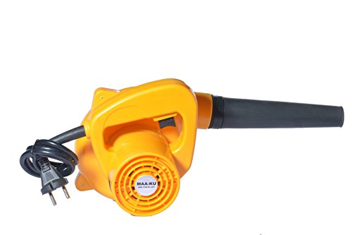 Small Portable Best Multifunctional Lightweight Handheld Electric Vacuum High Speed Rotary Air Blower Fan Machine for Domestic Home and Industrial Cleaning. Color-Yellow. MAA-KU