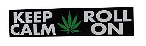 Licenses Products CDX Weed Indeed Keep Calm Roll On Sticker