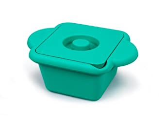 Heathrow Scientific HD28721G Emerald Polyurethane True North Cool Container Pan with Ergonomic Handle, 1 liters Capacity