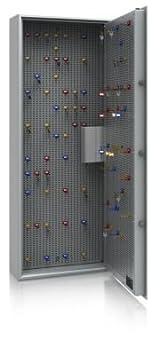 Coffre à clés - classe de sécurité A et norme européenne S1, gris clair h x l x p 1500 x 600 x 200 mm, pour max. 450 crochets - coffret à clés coffrets à clés petite armoire pour clés p
