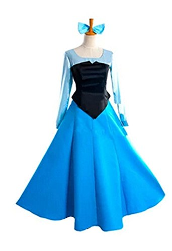 Magic Boxs Girls Little Mermaid Ariel Princess Blue Cosplay Dresses