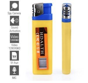 Best Spy Gadget - Spy Lighter Camera with Voice Activatied,record video and take still pictures, appear in lighter shape,high quality made in blue/yellow color,