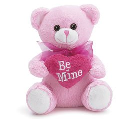 31qTzBPvXzL Buy  Be Mine Valentines Day Pink Plush Bear