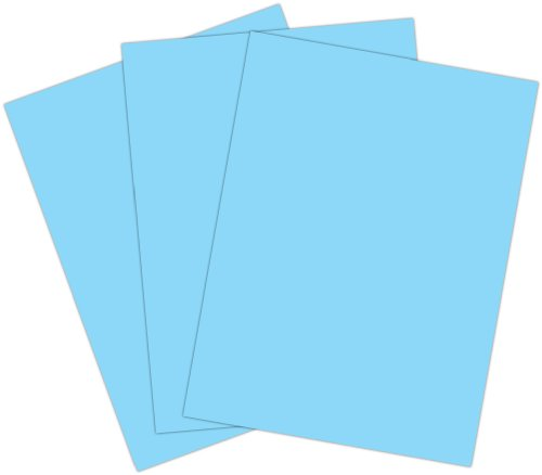Roselle Vibrant Construction Paper, 50ct, 9 x12 Inches, Light Blue (CON0591250)