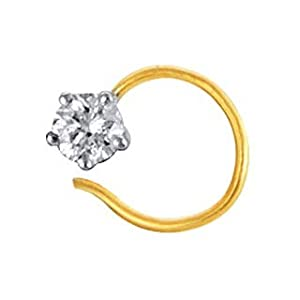 Unique Solitaire Diamond Studio 1 Stone Fancy Nosering - UQNO003