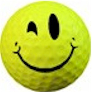 Wink Smiley Face Golf ball Great Gift Item won't Fade