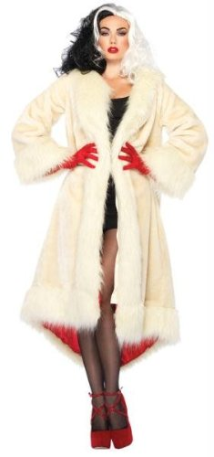 Costumes for all Occasions UADP85173SD Cruella Coat Satin Lined Adult