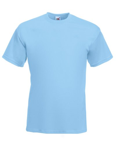 Fruit of the Loom Super Premium T-Shirt - Sky Blue Large