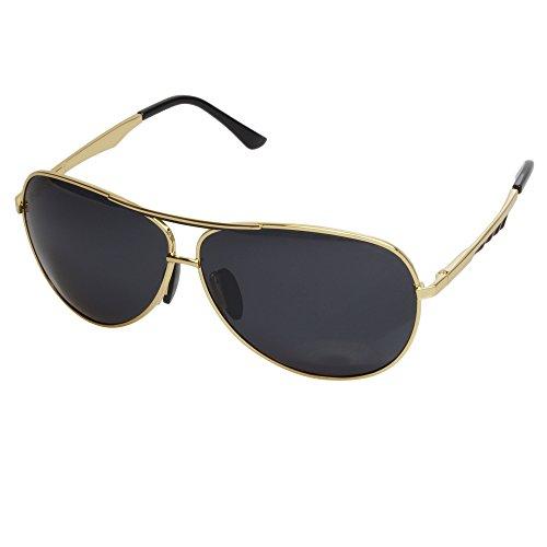 Aoron® Aviator Polarized Sunglasses A190 (Gold frame)