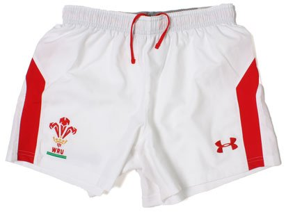 Wales 2012/13 Home Players Rugby Shorts White/Red - size 3XL