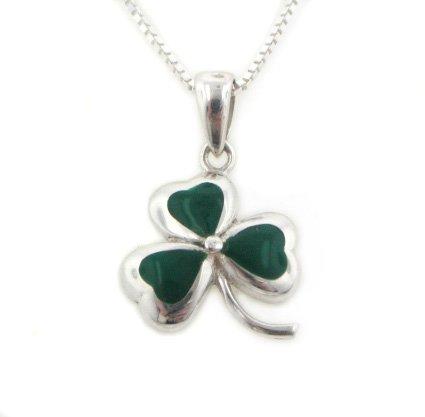 Irish Shamrock Lucky Clover Sterling Silver Pendant