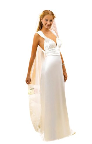 Sheath/Column V-neck Court Train Wedding Dress With Ruched/Beading Ivory