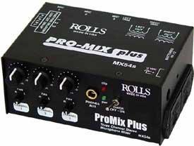 Rolls Mx54S Pro Mix Plus 3 Ch Mic Mixer