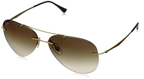 Ray-Ban Men's ORB8055 157/1359 Aviator Sunglasses,Gold,59 mm