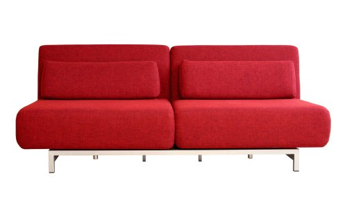 Quintiliano Convertible Sofa Bed, Red